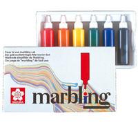 MARBLING INK 6X12ML MARMORIVÄRILAJITELMA