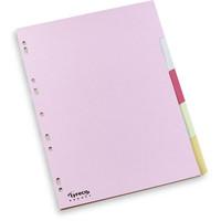 Lyreco Budget välilehti 5-osainen A4 160g, kartonki, pastelli