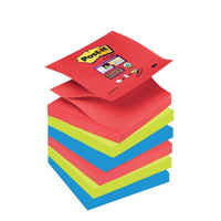 Post-it Super Sticky Z-notes viestilappu 76x76mm Bora Bora, 1 kpl=6 nidettä