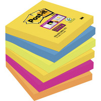 Post-it Super Sticky viestilappu Rio 76x76mm, 1 kpl=6 nidettä