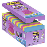 Post-it Super Sticky Z-notes 76 x 76mm värilajitelma