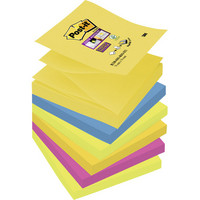 Post-it Super Sticky Z-notes viestilappu Rio 76x76mm, 1 kpl=6 nidettä
