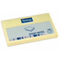 Lyreco viestilaput 76x127mm keltainen Me=12 vihkoa