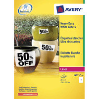 Avery L4776 Heavy Duty tarra 99,1 x 42,3mm 12-os. valkoinen, 1 kpl=240 tarraa