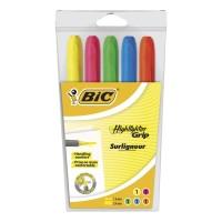 Bic Grip korostuskynä viisto 1,6-3,3mm värilajitelma, 1 kpl=5 kynää