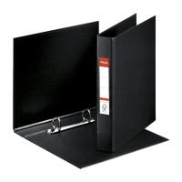 2-rengaskansio A5 25mm, PP, musta