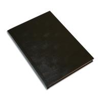 Muistikirja A5/96 viivoitettu, musta