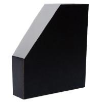 Lehtikotelo A4 kartonkia, koottava, mitat: 256 x 70 x 298 mm, musta