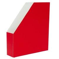 Lehtikotelo A4 kartonkia, koottava, mitat: 256 x 70 x 298 mm, punainen