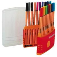 Stabilo Point 88 kuitukärkikynä 0,4mm värilajitelma, 1 kpl=20 kynää