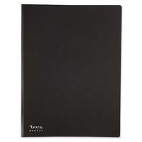 Esittelykansio A4, 20 taskua, musta