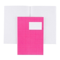 Kouluvihko A5/20 ruudutettu 7x7mm pinkki, 1 kpl=20 vihkoa
