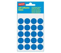 Pyöreä sininen merkkaustarra Halkaisija 19mm 20 tarraa/arkki