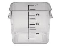 Elintarvikesäilytyslaatikko 5,7 litraa, kirkasta muovia