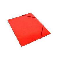 Kulmalukkokansio läpällinen A4 kartonki punainen