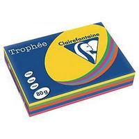 Väripaperilajitelma A4 80g 5 väriä, 1kpl=500 arkkia