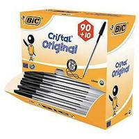 Bic Cristal kuulakärkikynä korkilla 0,4mm musta, 1 kpl=100 kynää