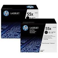 HP 55X CE255XD laservärikasetti dualpack musta, 1 kpl= 2 kasettia
