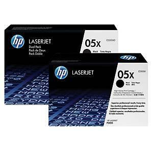 HP 05X CE505XD laservärikasetti dualpack musta, 1 kpl=2 kasettia