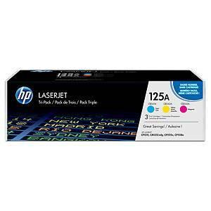 HP 125A CF373AM laservärikasetti multipakkaus syaani/magenta/keltainen