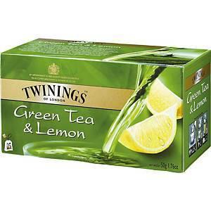 Twinings Vihreä sitruuna pussitee, 1 kpl=25 pussia