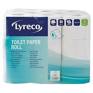 Lyreco wc-paperi 3-kerroksinen, 1 kpl=18 rullaa