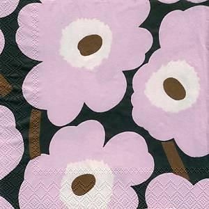 Marimekko Unikko lautasliina 25x25 pinkki, 1 kpl=20 liinaa