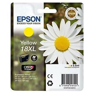 Epson T18XL mustesuihkupatruuna keltainen