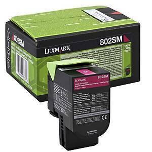 Lexmark 80C2SM0 802SM laservärikasetti punainen