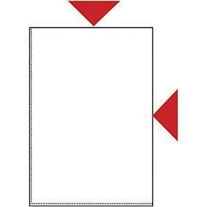 Muovitasku A4 110mic PP kirkas, appelsiini, 1 kpl=100 taskua