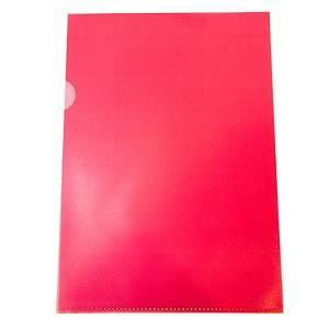 Muovitasku A4 110mic PP appelsiinipinta punainen, 1 kpl=100 taskua