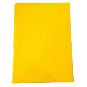 Muovitasku A4 110mic PP appelsiinipinta keltainen, 1 kpl=100 taskua