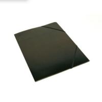 Kulmalukkokansio läpällinen A4 kartonki musta