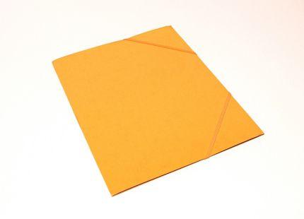 Kulmalukkokansio läpällinen A4 kartonki keltainen