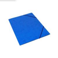 Kulmalukkokansio läpällinen A4 kartonki sininen
