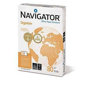 Navigator Organizer kopiopaperi A4 80g rei'itys 8cm me=1ltk ( 5 riisiä )