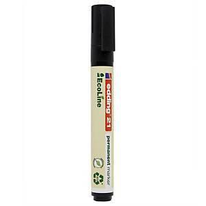 Edding EcoLine 21 huopakynä pyöreä 1,5-3mm permanent musta 10kpl ltk