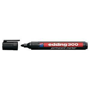 Edding 300 huopakynä pyöreä 1,5-3mm permanent musta 10kpl