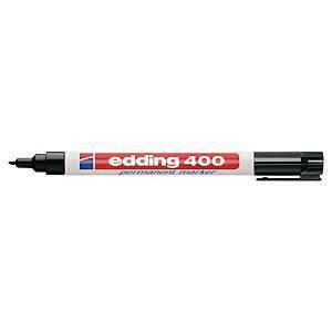 Edding 400 huopakynä pyöreä 1 mm permanent musta 10kpl