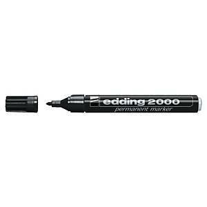Edding 2000 huopakynä pyöreä 1,5-3mm permanent musta 10kpl