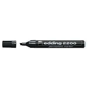 Edding 2200 huopakynä viisto 1-5mm permanent musta 10kpl
