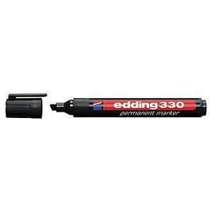 Edding 330 huopakynä viisto 1-5mm permanent musta 10kpl