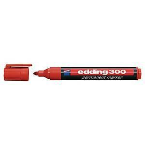 Edding 300 huopakynä pyöreä 1,5-3 mm permanent punainen 10kpl rasia