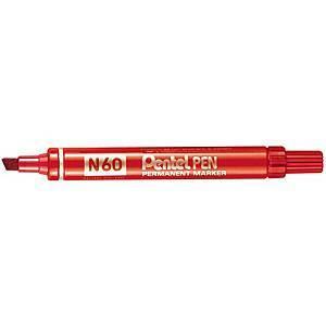 Pentel N60 huopakynä viisto 1-5mm permanent punainen 12kpl