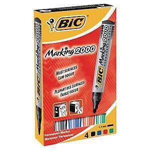 BIC 2000 huopakynä pyöreä 1,7mm värilajitelma, 1 kpl = 4 kynää