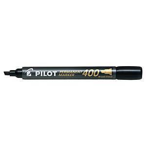 Pilot SCA-400 huopakynä viisto permanent musta 12kpl
