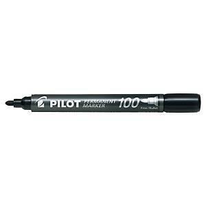Pilot SCA-100 huopakynä pyöreä permanent musta 12kpl