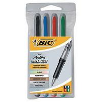 Bic CD-/DVD huopakynä pyöreä 0,7mm värilajitelma, 1 kpl=4 kynää