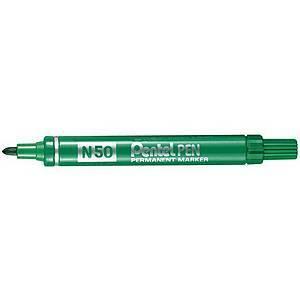 Pentel N50 huopakynä pyöreä 1-2mm permanent vihreä 12kpl