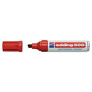 Edding 500 huopakynä viisto 2-7 mm permanent punainen 10kpl